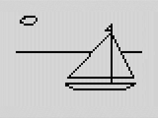Picture ZX81 screen shot, Steven Reid 1984